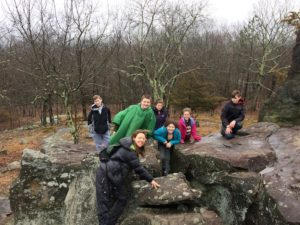 Hiking Judges Cave with Common Ground Nature Center