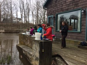 Water testing with Whitney Water Center at Roger's Mill Pond